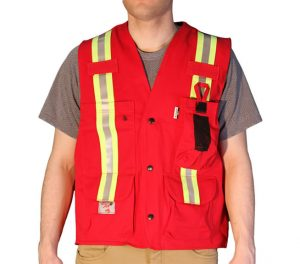 UltraSoft® Unlined Safety Vest - Red