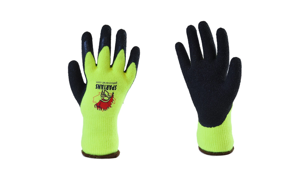 Spartans 13G Polyester Latex Gloves